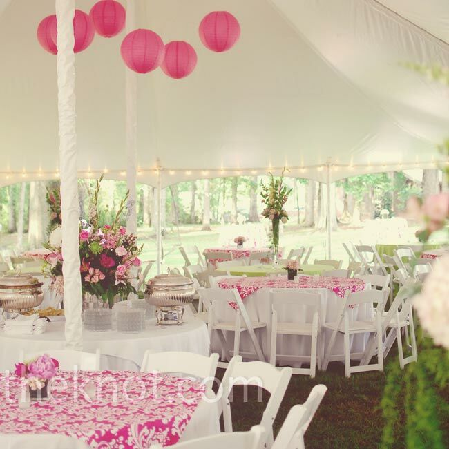 Pink and Green Wedding Decorations
