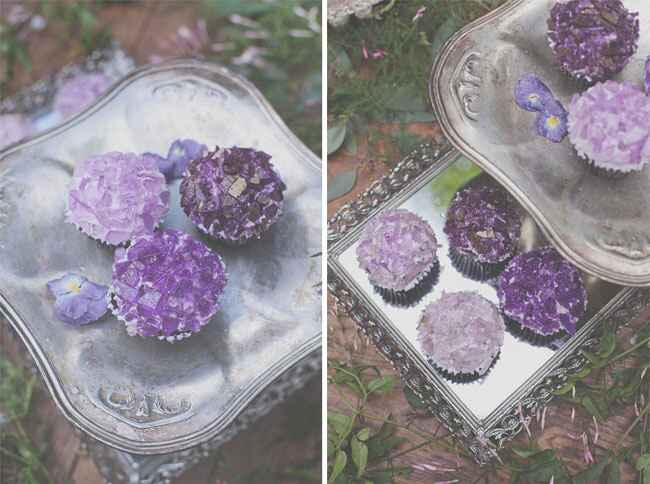Rock Candy Amethyst Cupcakes