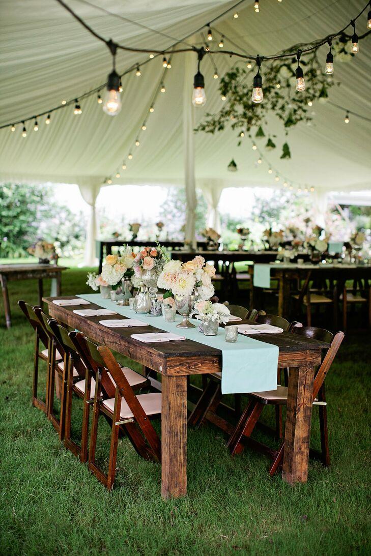 Elegant rustic reception decor for Classy wedding table decorations