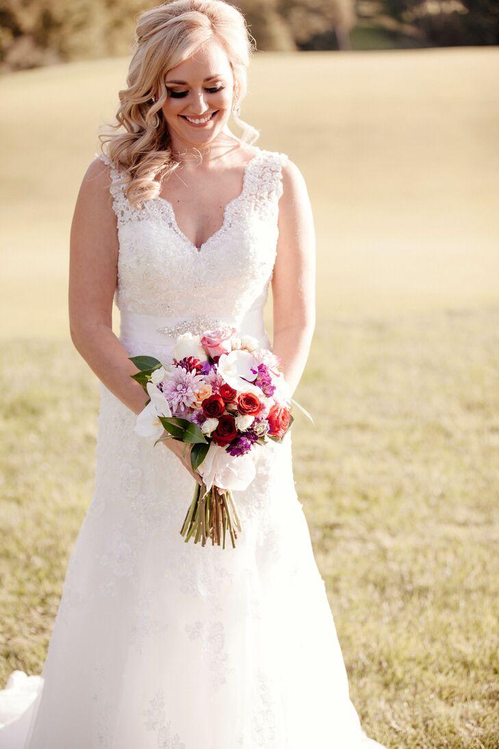 Bride In A Lace Stella York Wedding Dress