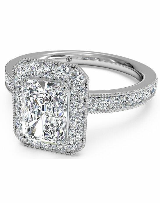Ritani Radiant Cut Vintage Halo Diamond Engagement Ring with Surprise Diamonds in Platinum (0.40 CTW) Engagement Ring photo