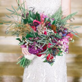 Bright Purple Bohemian Bouquet