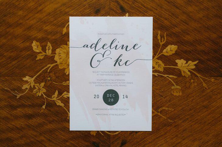 Diy Wedding Invitations Malaysia Inspiring Card Design