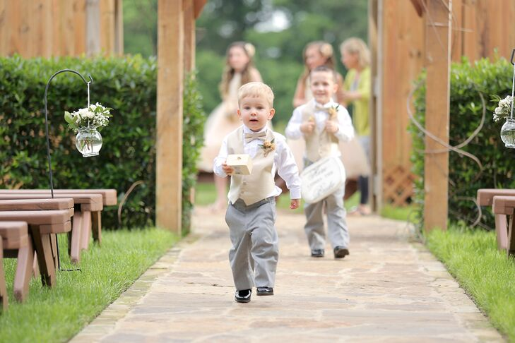 Neutral and Gray Ring Bearer Attire