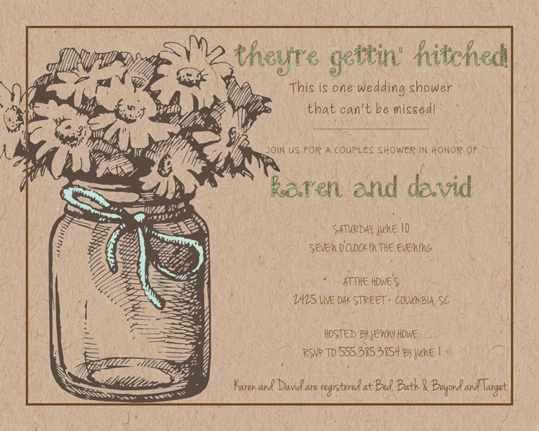 Bridal Shower Invitation Wording Ideas and Etiquette – Rustic Wedding Shower Invitations