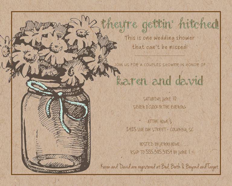 Rustic Wedding Shower Invitation Wording