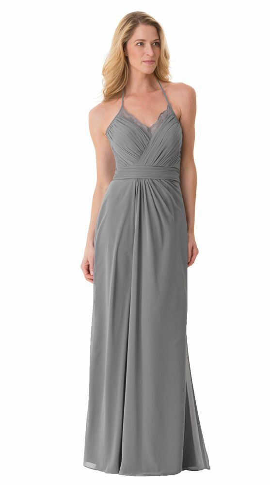 Grey Bridesmaid Dress By Bari Jay