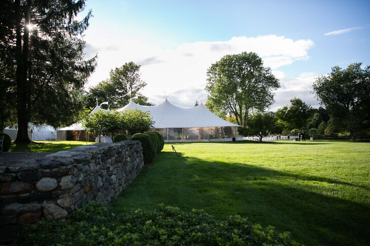 Backyard Reception Tent in Bedford, New York