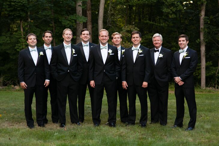 Ralph Lauren Groomsmen Tuxedos at Backyard Wedding