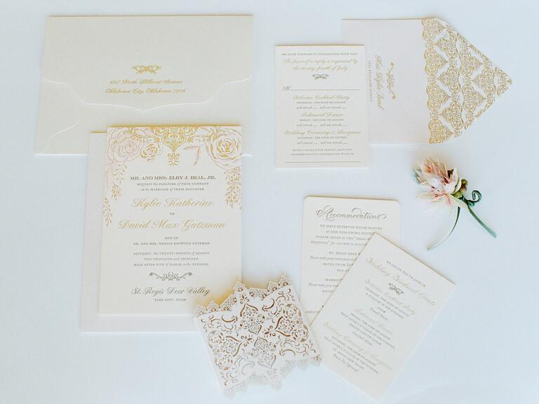 A Romantic Spring Soiree at The Green Building – Traditional Engraved Wedding Invitations