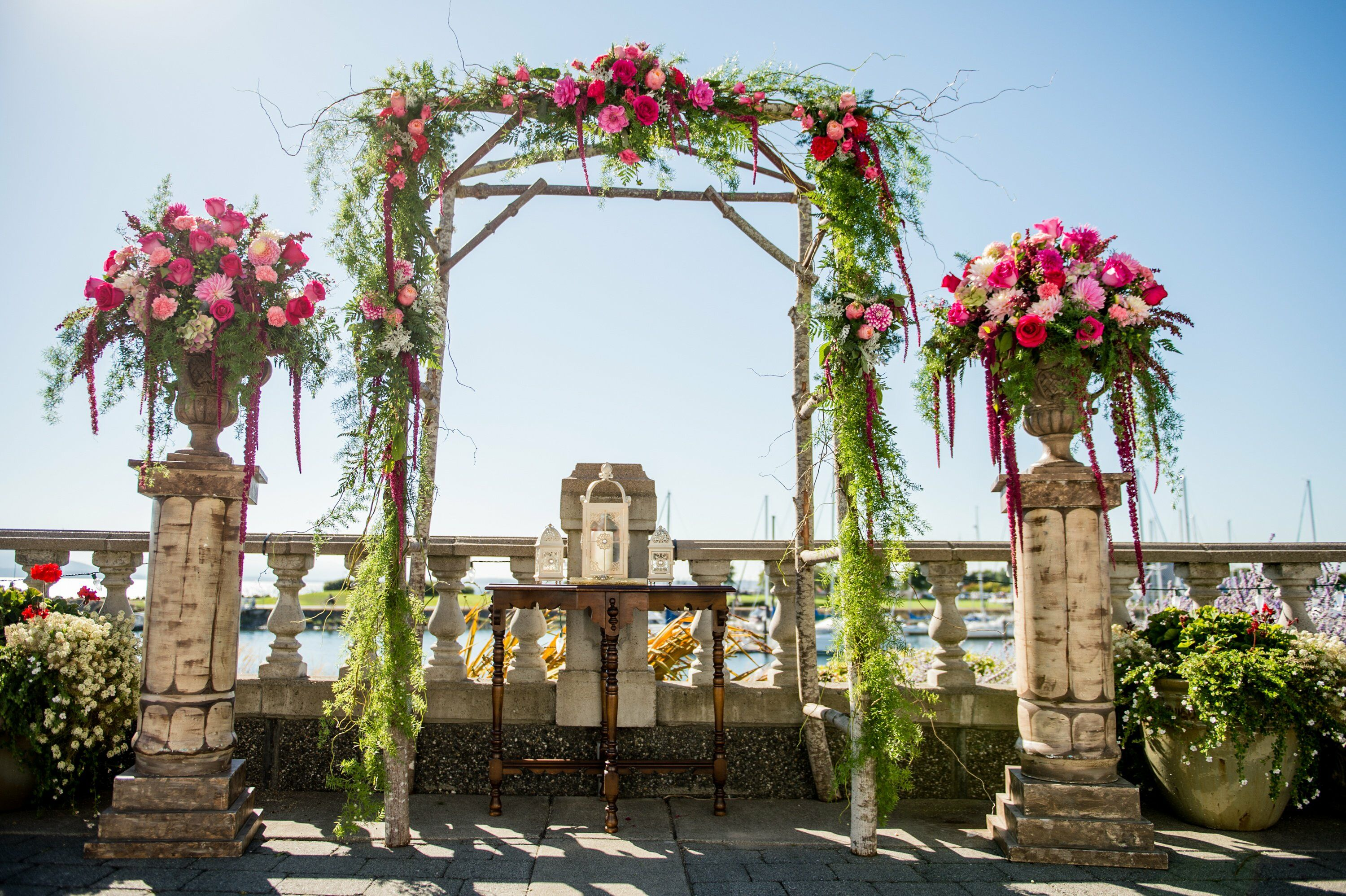 Wedding Ceremony Ideas Flower Covered Wedding Arch: Outdoor Ceremony Arch With Flowers And Ferns