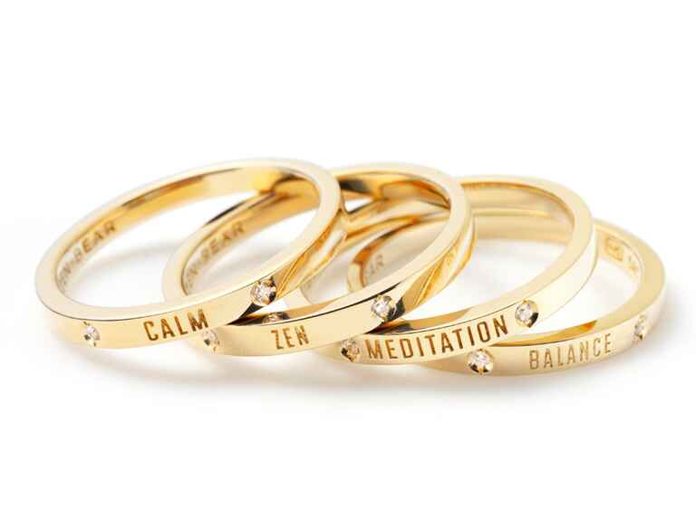 Gold zan rings from Zazen Bear