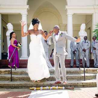 African American broom jumping wedding tradition