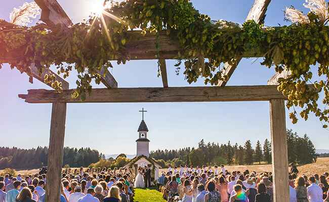 Audrey Roloff and Jeremy Roloff's wedding church