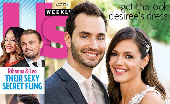 Desiree Hartsock and Chris Siegfried pose on the cover of Us Weekly on their wedding day
