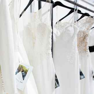 Wedding dresses from local bridal show