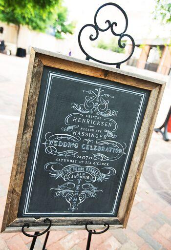 7 creative chalkboard wedding ideas for Unique chalkboard ideas