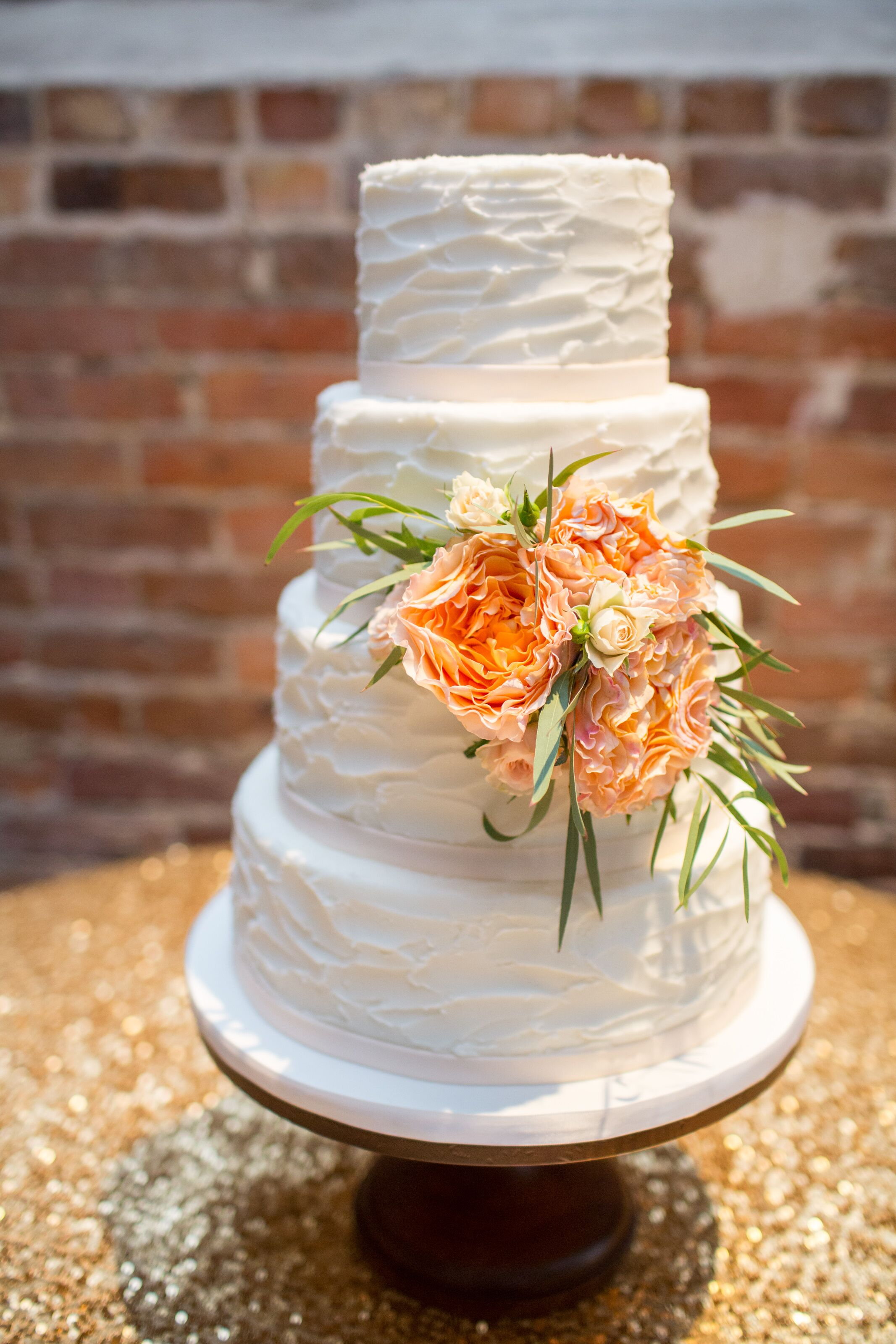 textured wedding cakes textured buttercream wedding cake with peony accents 20824
