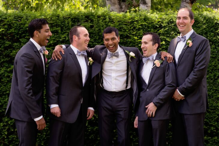 The Black Tux Gray Groomsmen Suits