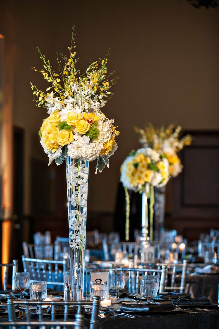 Tall Glass Centerpiece
