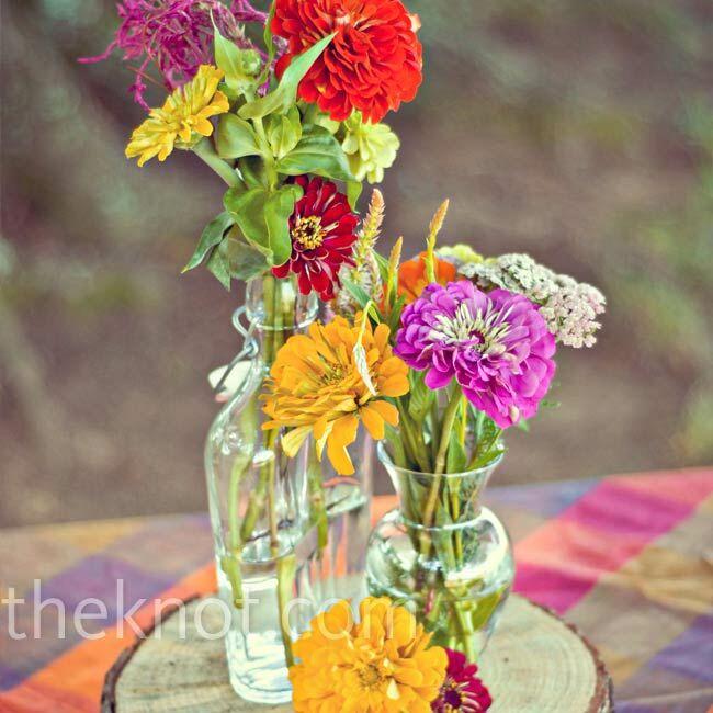 Wild Flowers For Weddings: Wildflower Centerpieces