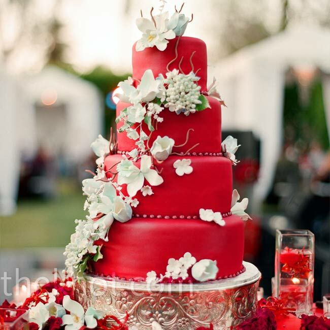 wedding cake red wedding cake 23659