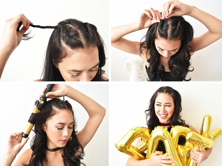 Fast Hairstyles For A Party : A quick and easy half up hairstyle for the bachelorette party