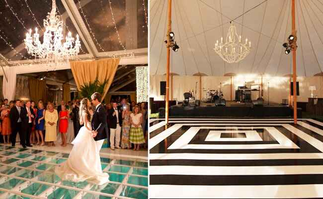 Custom Dance Floors from The Knot