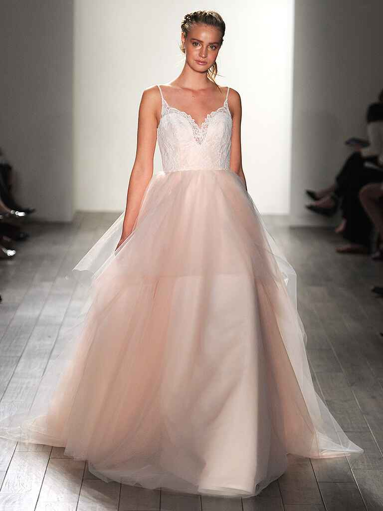 Blush pink wedding dress by Blush by Hayley Paige​​