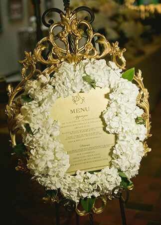 Wedding Flower Frames |Lissa Anglin Photography | blog.theknot.com