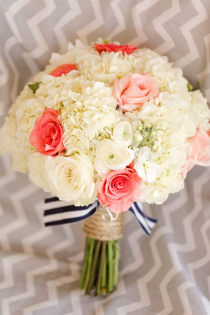 Coral and ivory rose bridal bouquet izmirmasajfo