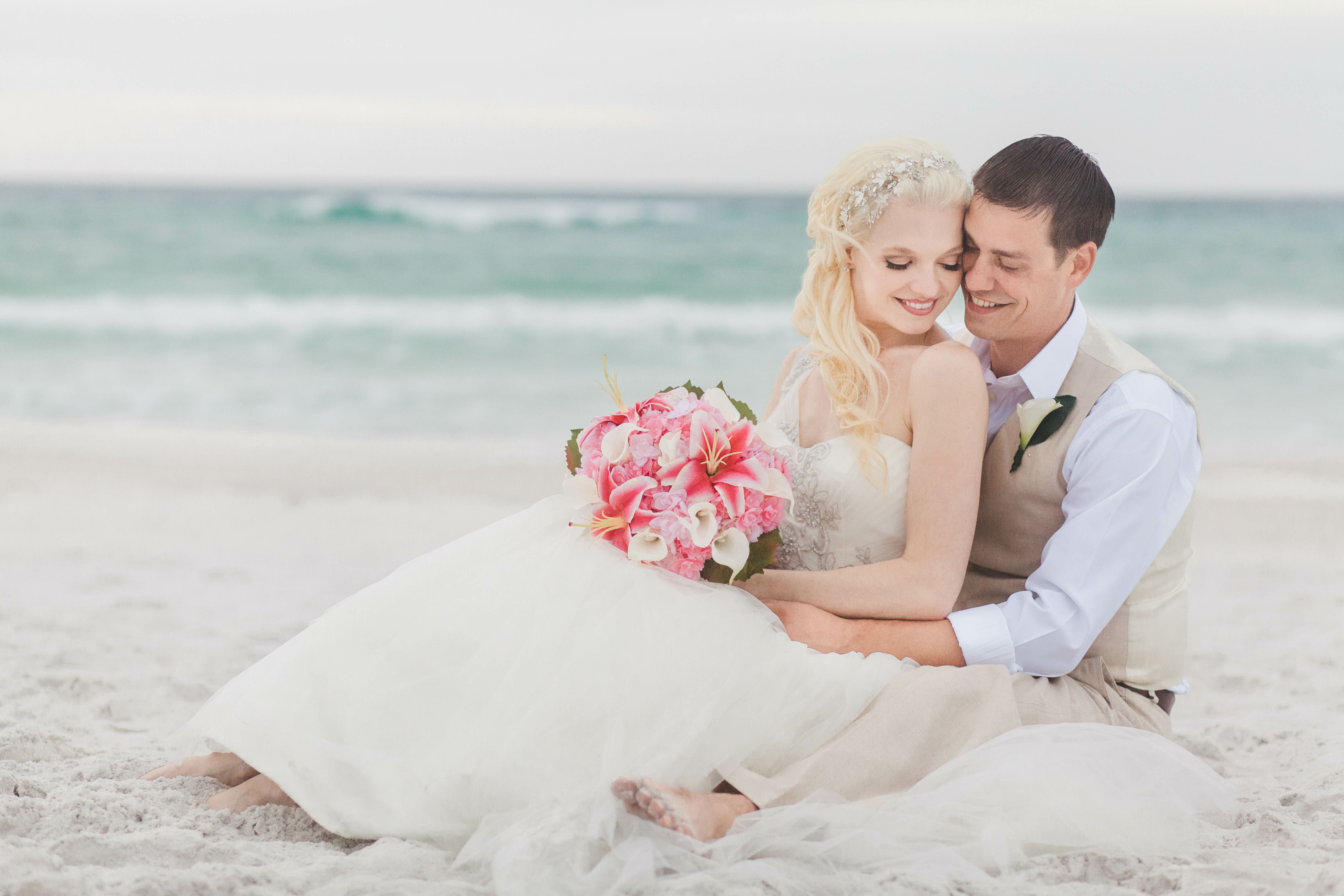 Simple Beach Wedding In Destin Florida