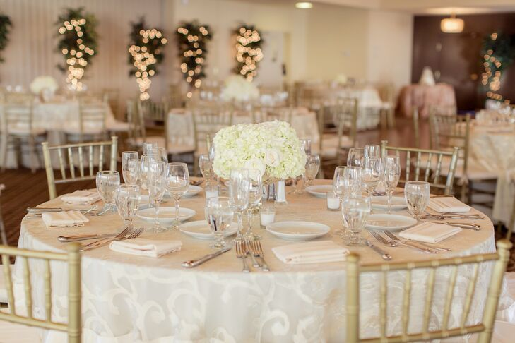 Ivory, Gold And White Table Decor