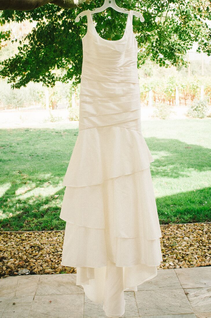 Trumpet Style Wedding Gown with Layered Bodice