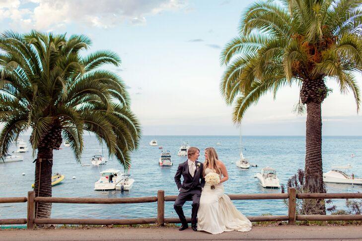 A Soft Mint Wedding At Descano Beach Club On Catalina Island In California