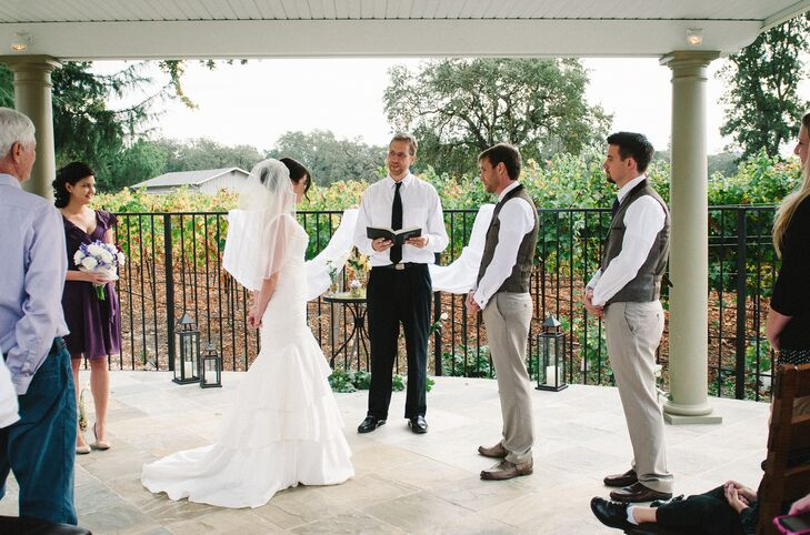 Vineyard Wedding Ceremony Under Pergola at Napa Private Estate