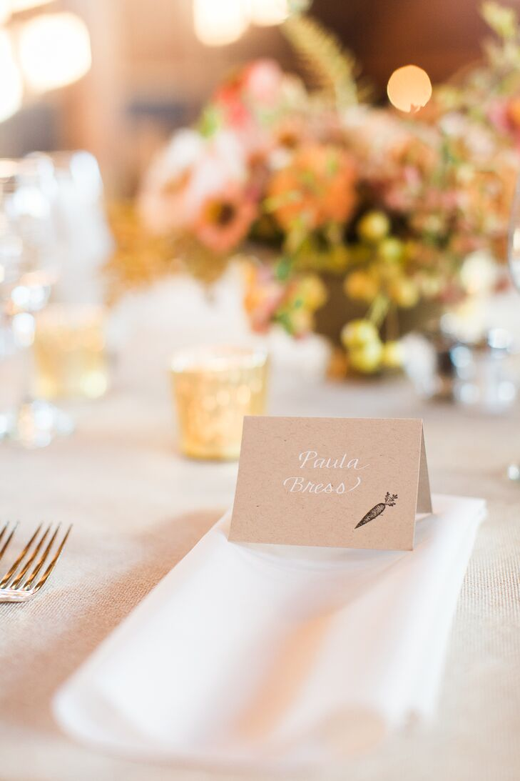 Stamped, Hand-Lettered Escort Cards