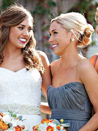 Chic ballerina bun bridesmaid hairstyle