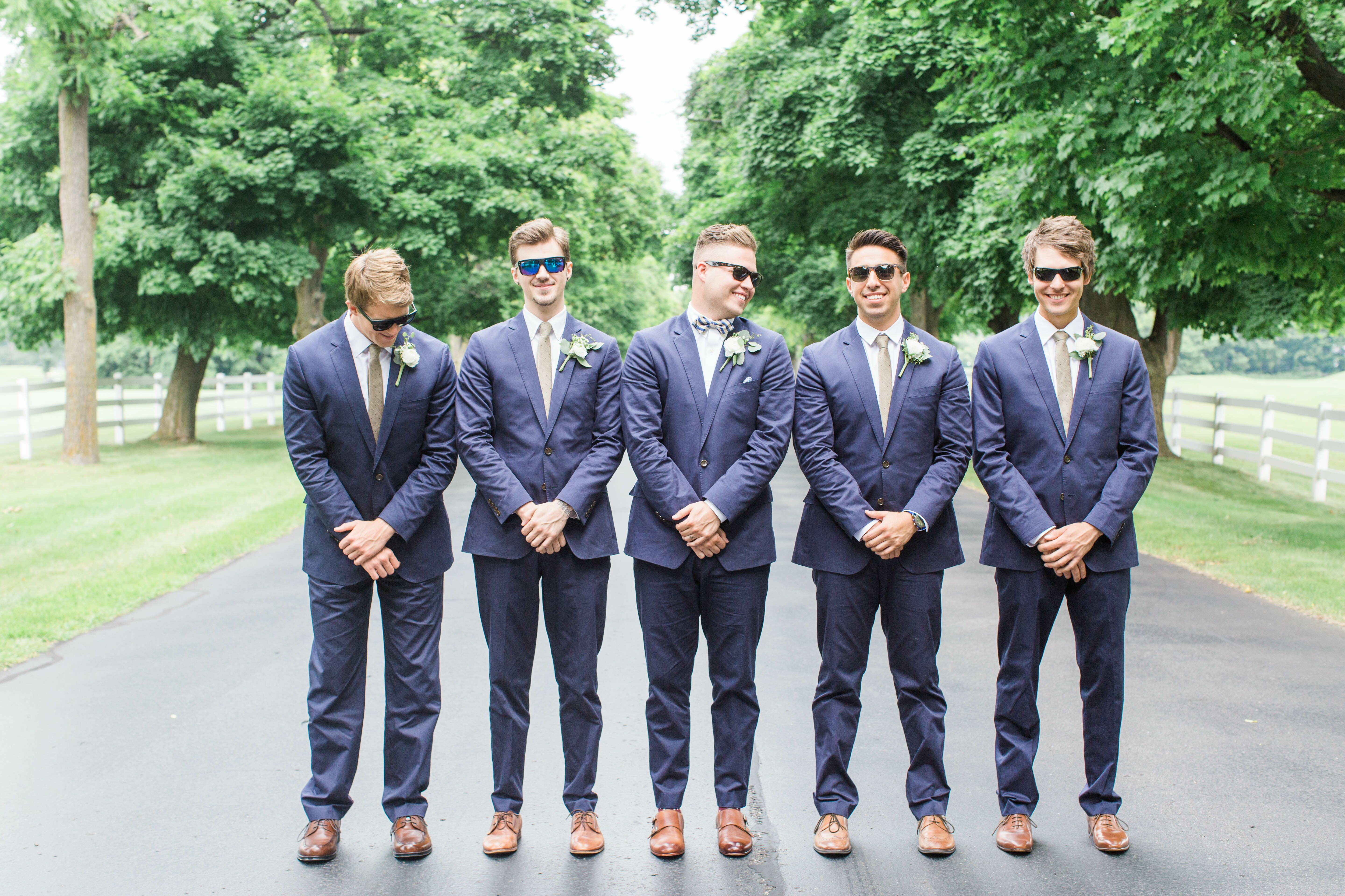 Fitted Navy Blue Suits