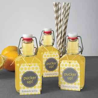 DIY limoncello wedding favors