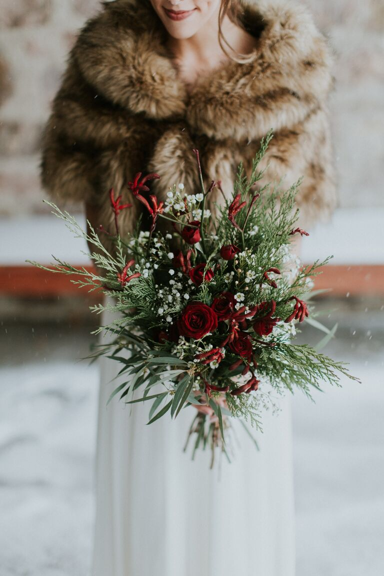 Winter wedding ideas fur wrap winter wedding trend junglespirit Image collections