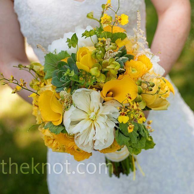 Yellow Wedding Flowers: Yellow Wedding Bouquet