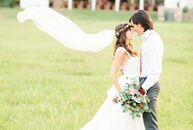 Ashley Annick (27 and a calligrapher) and Alec Coston (24 and a medical student) celebrated their wedding at the Brooks at Weatherford in Texas's pict