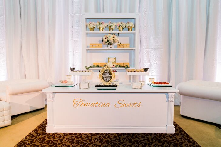 Modern White Dessert Table