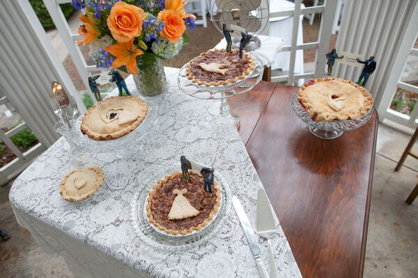 Pie Table and Photo Toppers with Labels