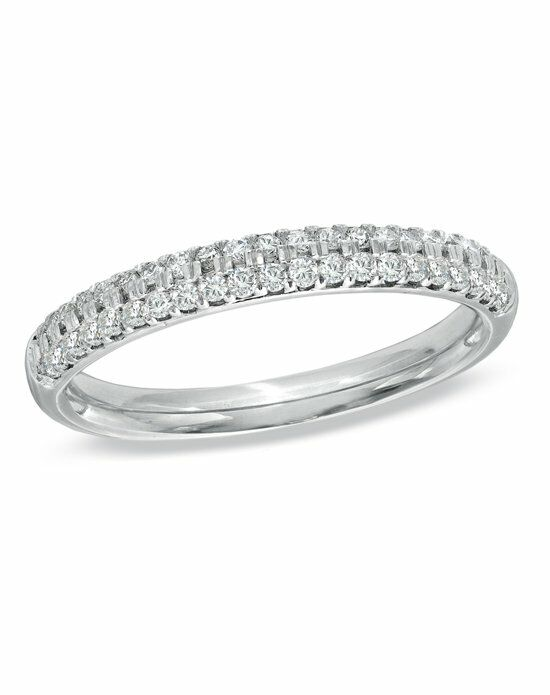 Vera Wang LOVE at Zales Vera Wang LOVE Collection - 3/8 CT. T.W. Round-Cut Diamond Pave Ladies Anniversary Band in 14K White Gold    18638148 Wedding Ring photo