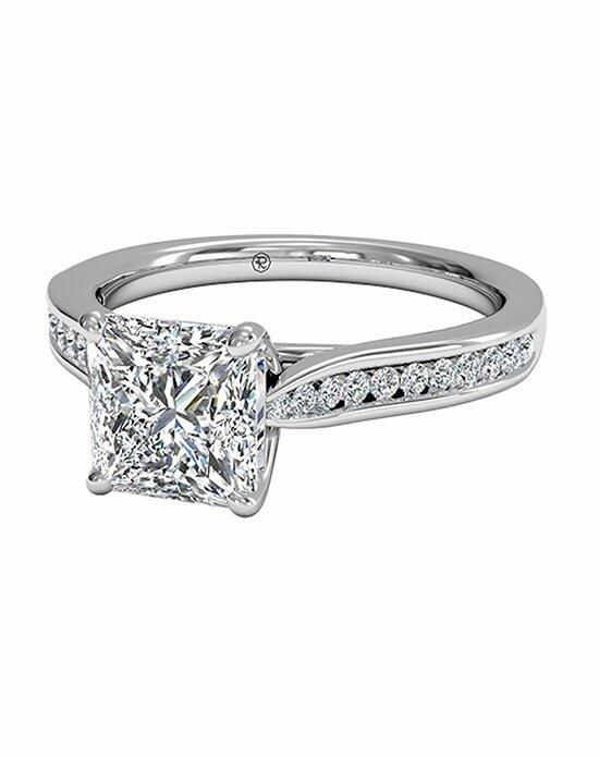 Ritani Princess Cut Channel-Set Diamond Engagement Ring with Surprise Diamonds in Platinum (0.14 CTW) Engagement Ring photo
