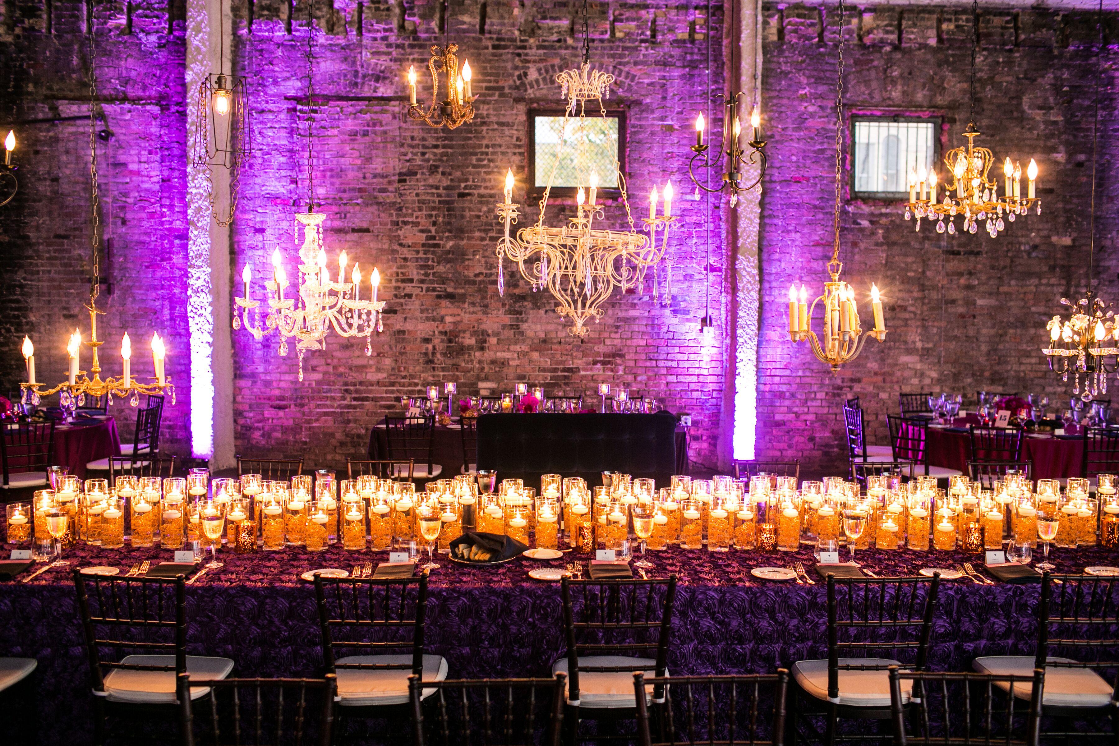 Candlelit Wedding Reception At Aria