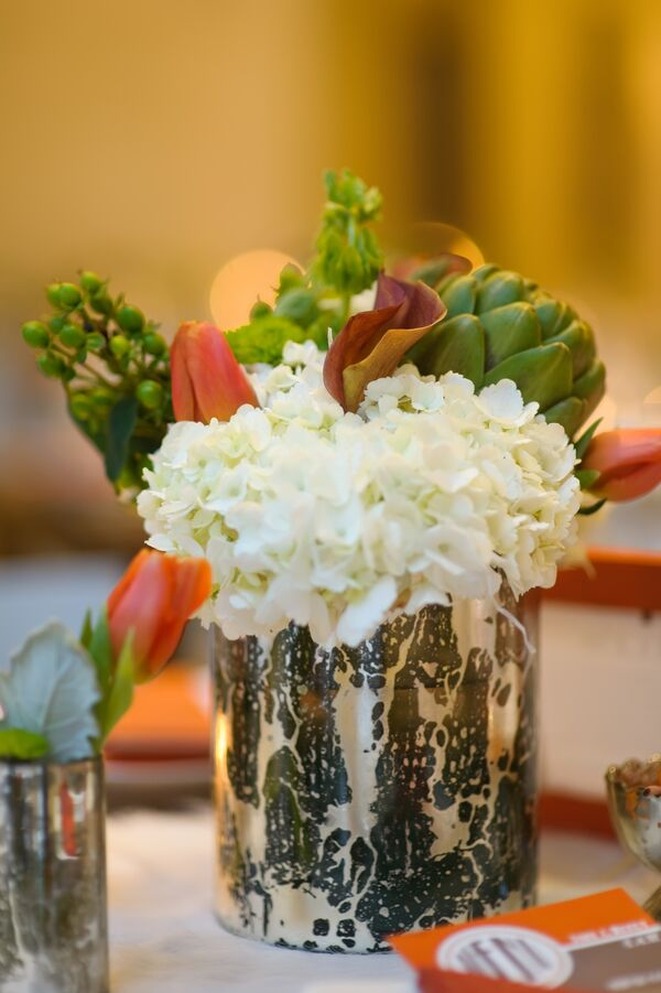 Mercury Glass Centerpiece