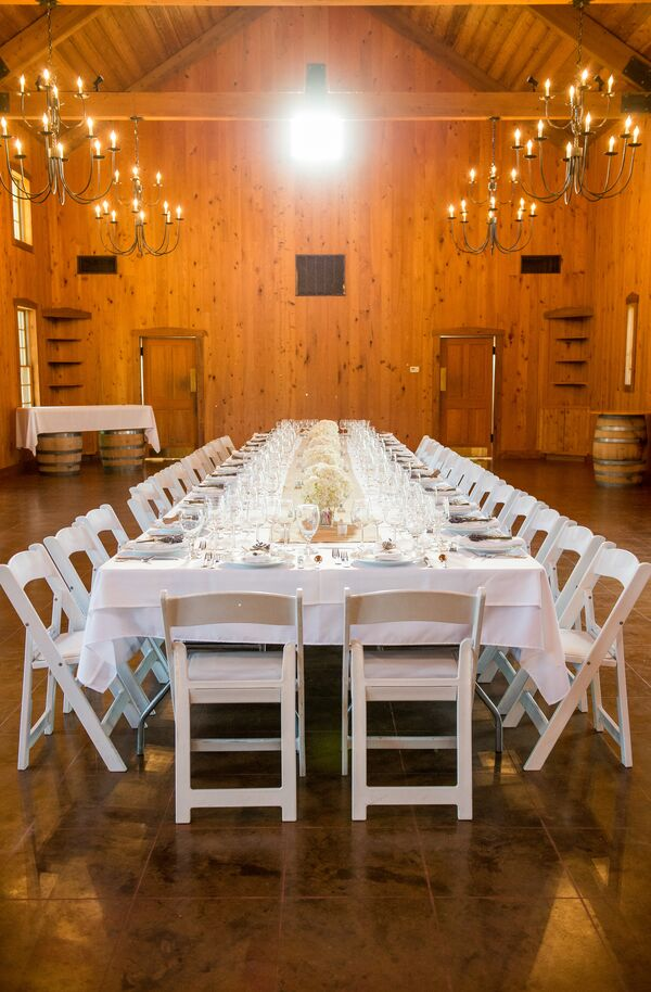 Long Family-Style Dining Table at Vineyard